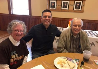 Velis poses with Seniors